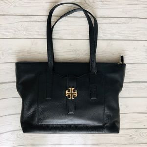 Tory Burch Black Leather Meyer Tote